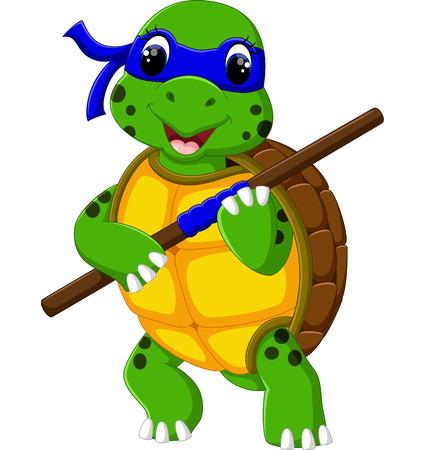 isolated sign: Cute cartoon turtle