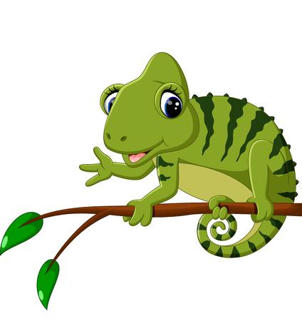Leuke cartoon Chameleon Stockfoto - 58514241