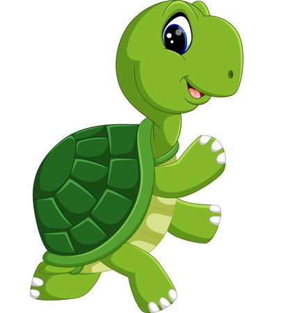 cute turtle cartoon  イラスト・ベクター素材