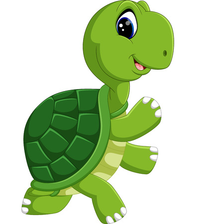 cute turtle cartoon Иллюстрация