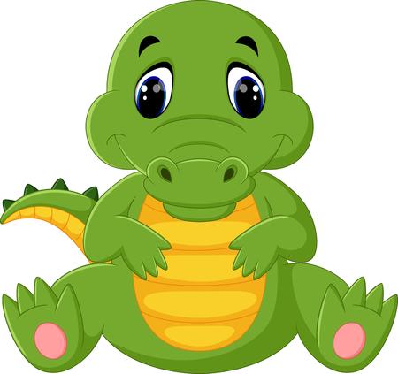 mignon dessin animé crocodile