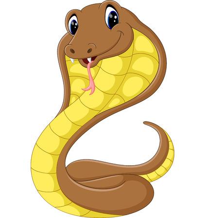 serpiente cobra: Serpiente de la historieta linda de la cobra