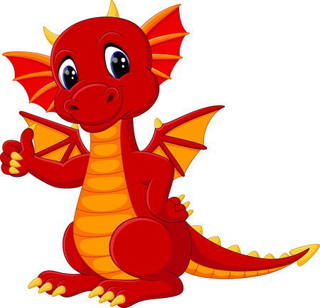 cute dragon cartoon