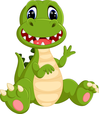 dinosaur cute: cute dinosaurs cartoon Illustration