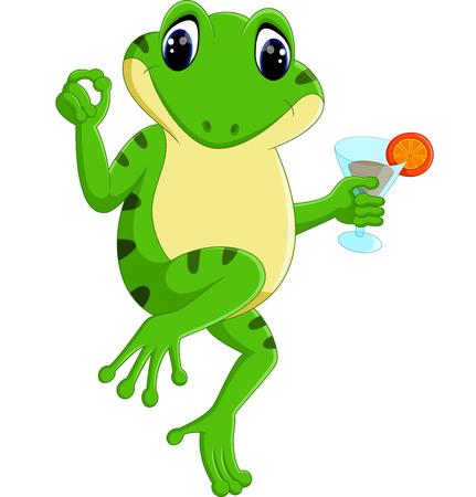 bullfrog: cute frog cartoon Stock Photo