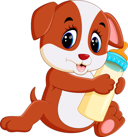 cute dog cartoon Ilustrace