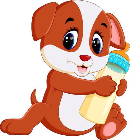cane chihuahua: simpatico cartone animato cane Vettoriali