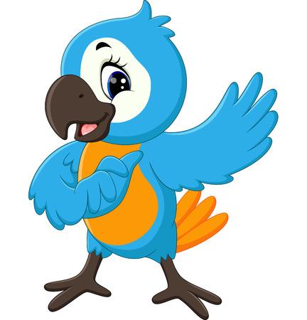 cartoon parrot: Cartoon cute parrot