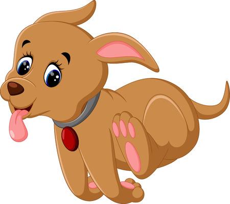cute dog: illustration of cute dog cartoon Illustration