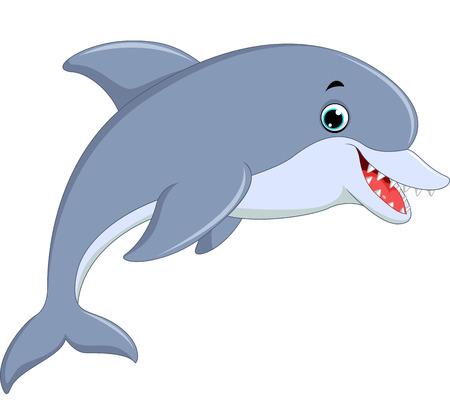 Ilustración de salto del delfín lindo