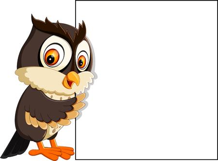 Owl teacher at whiteboard