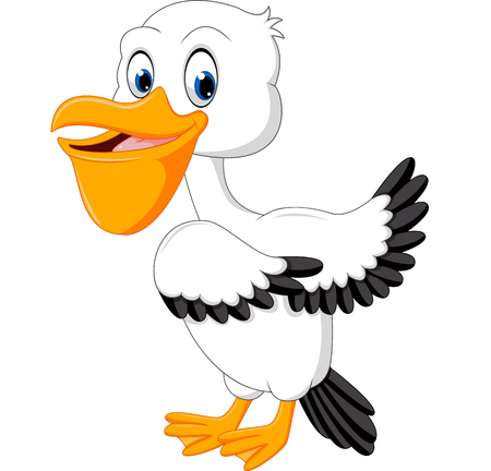 flightless: Cute pelican cartoon