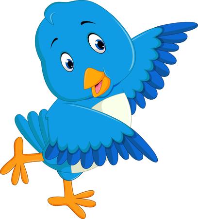 bluebird: Cute blue bird cartoon