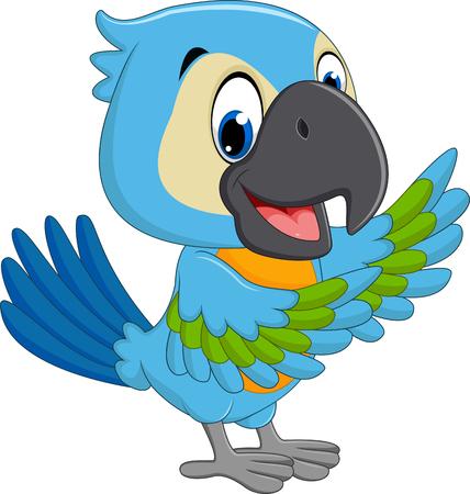 macaw: Cartoon macaw Stock Photo