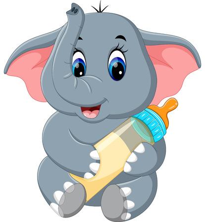 Cute elephant cartoon 스톡 콘텐츠