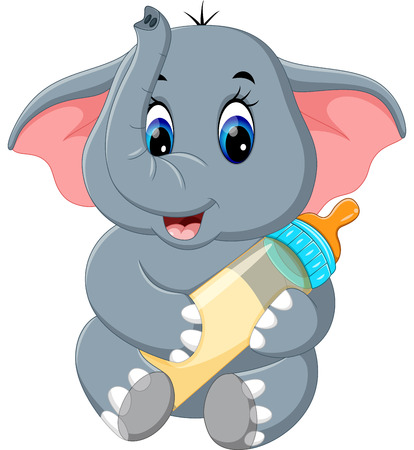 Cute elephant cartoon Archivio Fotografico