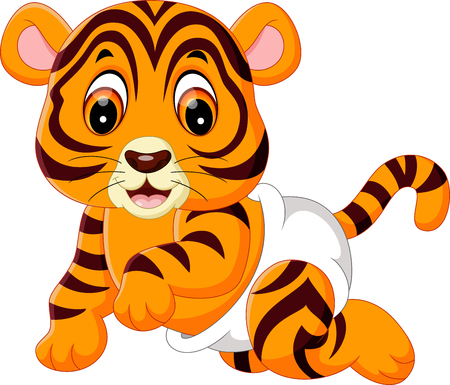 cute baby tiger Stock Photo
