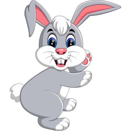 hamper: cute rabbit cartoon