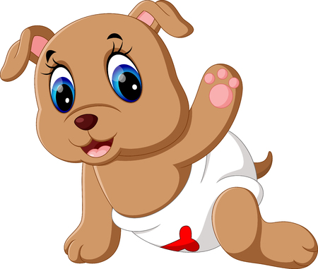 Cute baby dog cartoon