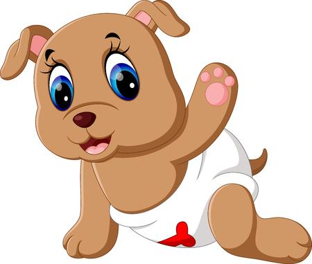 saliva: Cute baby dog cartoon