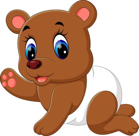 cute bear: cute baby bear cartoon Stock Photo