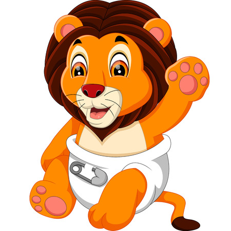 lindo bebé de dibujos animados león