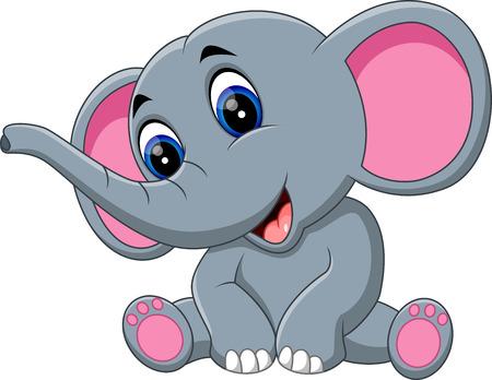 dibujo animado lindo del elefante de la ilustración