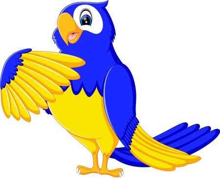 macaw: illustration of Cartoon macaw smile Stock Photo