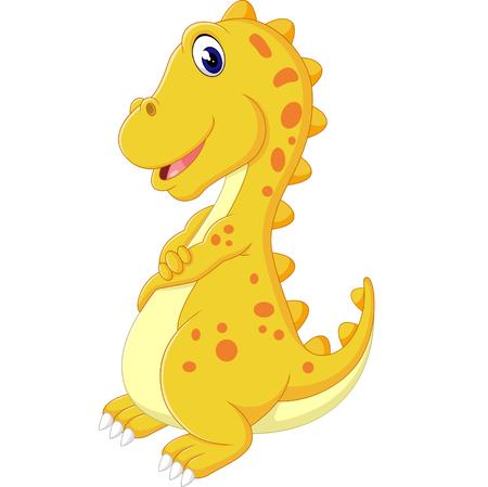 tyrannosaur: cute dinosaurus cartoon