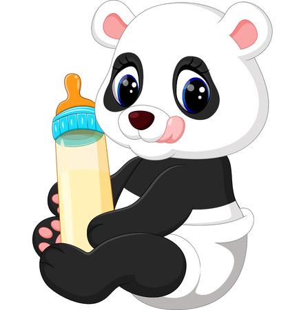 Bébé mignon dessin animé panda Banque d'images - 60994576