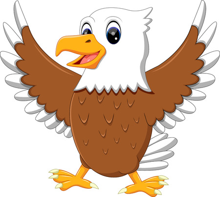 illustration of cute eagle cartoon Illustration