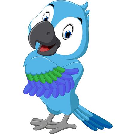 guacamaya caricatura: Macaw de la historieta