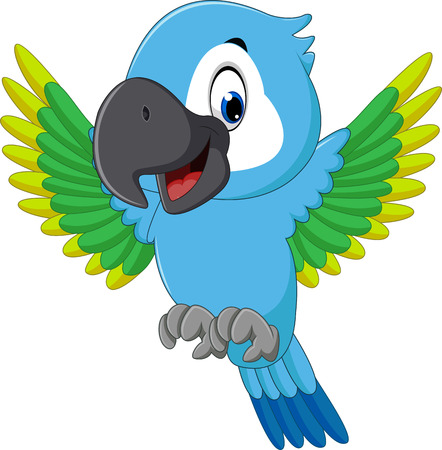 Cartoon macaw Illustration