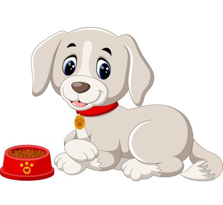 Dessin animé chien mignon