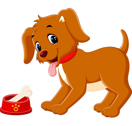 cute dog: Cute dog cartoon