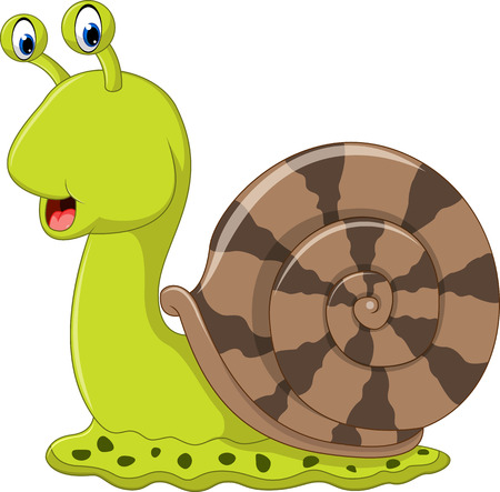dna smile: Cute snail cartoon Illustration