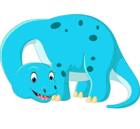 brontosaurus: Cute brontosaurus cartoon