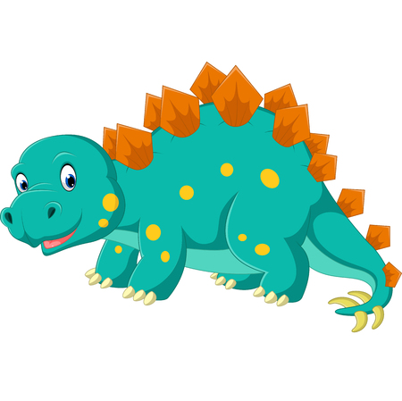 carboniferous: Cute stegosaurus cartoon Illustration