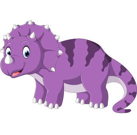 Triceratops cartoon Illustration