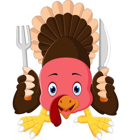 thanksgiving day symbol: tacchino cartone animato uccello