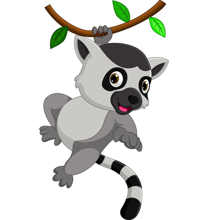 carino lemure cartone animato