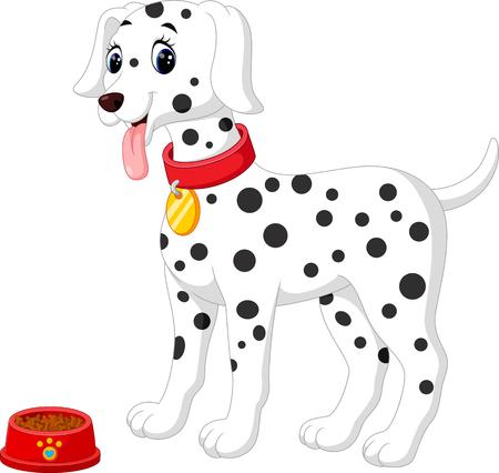 귀여운 달마 시안 강아지