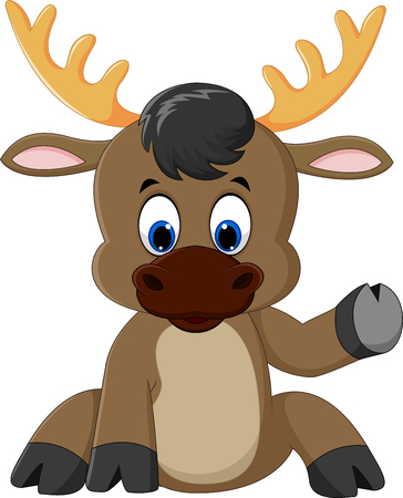 kiddish: moose cartoon Stock Photo