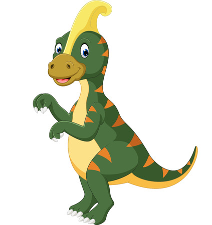 Parasaurolophus cartoon