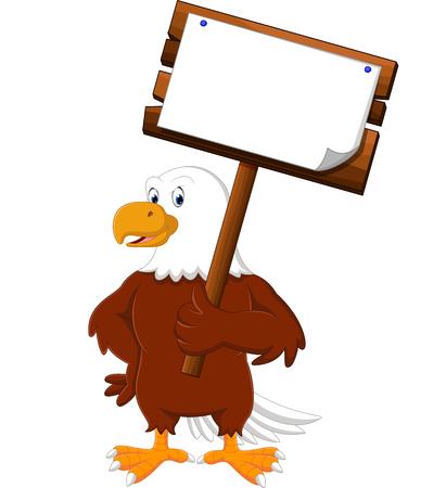 boarding: Eagle cartoon posing