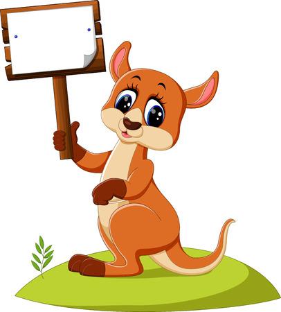 hairy legs: cute Kangaroo cartoon