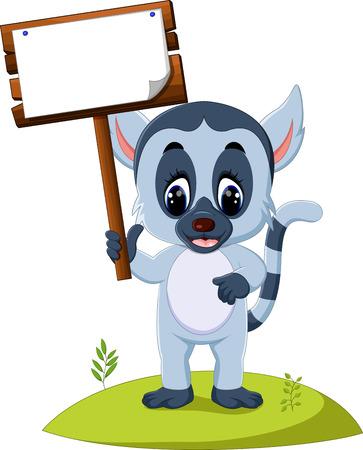 Cute baby lemur