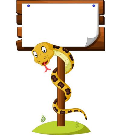 Cartoon brown snake