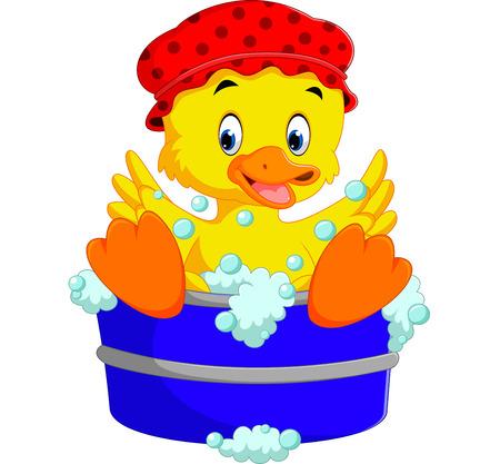 Funny duck cartoon Illustration