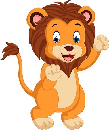 Cute cartoon lion Illustration